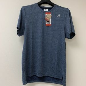 Reebok Men's WOR Mélange Tech Top Blue NWT